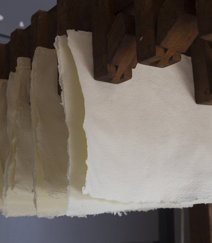 Homemade toilet paper hanging drying process